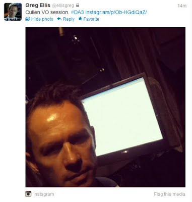 greg ellis deleted tweet regarding cullen vo session