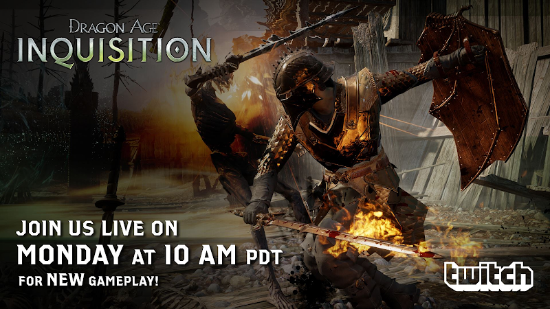 Dragon Age Inquisition Live stream Monday September 29 character creator and new demo