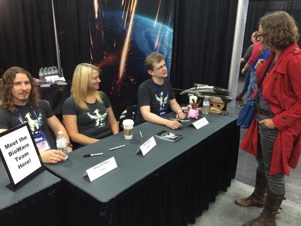 Dragon Age Inquisition Edmonton Expo Luke Kristjanson Robyn Theberge Thomas Perlinski