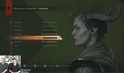 Dragon Age Inquisition Twitch Livestream Character Creator