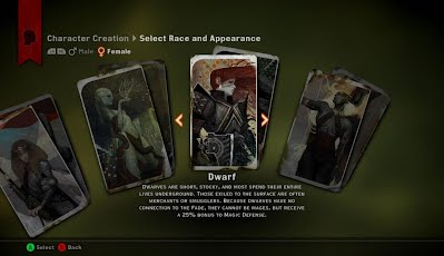 Dragon Age Inquisition Character Creator Female Tarot Cards