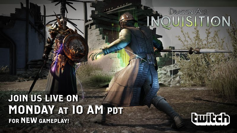 Dragon Age Inquisition new game play on Twitch