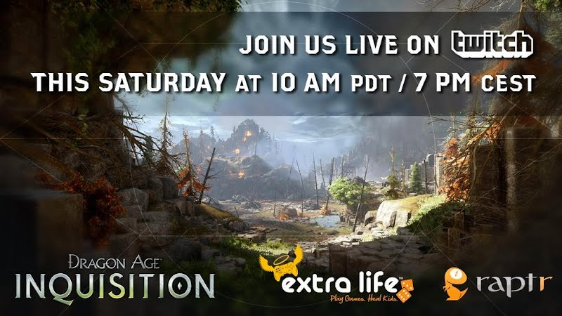 Dragon Age: Inquisition Live Stream Raptr Extra Life