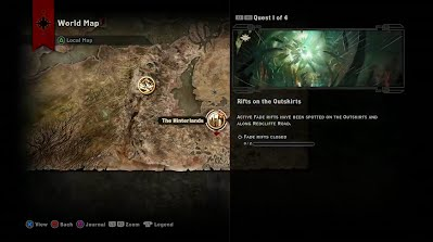 Dragon Age Inquisition PAX Australia 2014 Game Play Screen shot world map