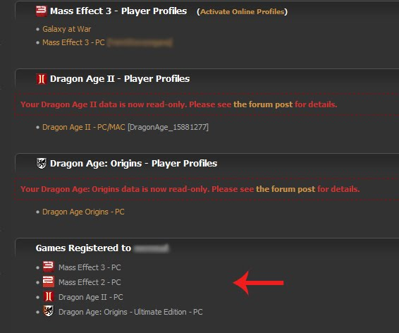 Dragon Age Keep Troubleshooting Old Bsn Player Profiles Game Registered