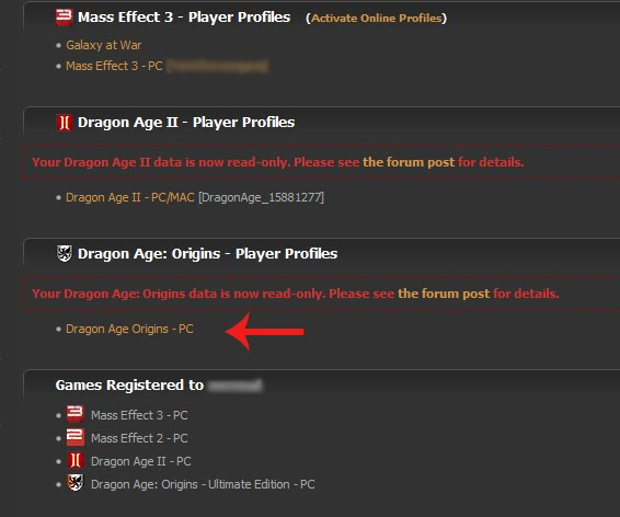 Dragon Age Inquisition Keep Troubleshooting Old BSN Player Profiles