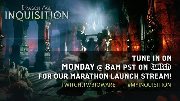 Dragon Age: Inquisition Marathon Launch Twitch Stream Monday November 17 2014