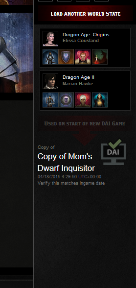 Dragon Age Keep verify world state is in exported slot
